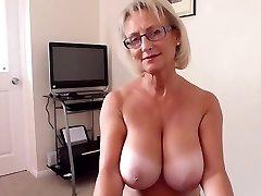 Brit big natural bosoms mature hot blowjob