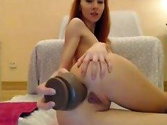 Ms Lily Big Dildo Ass Fucking