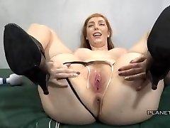 Bukkake - Slut with big tits in american prison mass ejaculation