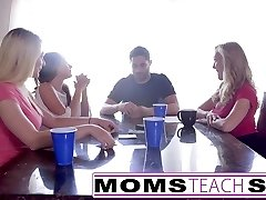 MomsTeachSex  Hot Mom & Teenage Buddies Orgy Fuck With Neighbor