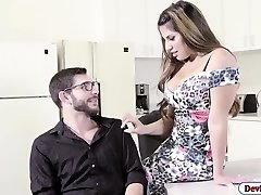 Latina Mercedes penetrated in the office