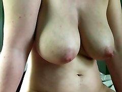 Fat boobs cameltoe slide cumshot
