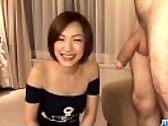 Subtitles - Asian babe Nene Iino suck trunk