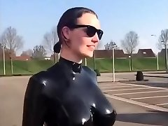Huge tits latex slow motion awesome