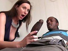Big dark-hued dude fucks whorey mature chick Lara Latex