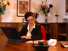 Big tits secretary pulverizing her boss