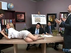 MILF goes into heat during meeting