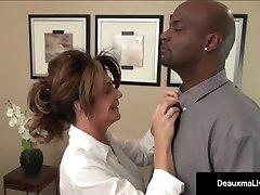 Milf Boss, Deauxma, Can't Fire Her Best Worker's Black Knob!