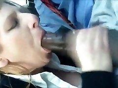 Hottest interracial Blowjob - Milf Sucks on a Big Black Cock and Drinks His Cum Load