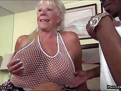 72 year old Grandma Hungers Big Ebony Cock