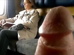 Train Man Sausage Flash To Mature - With Cum