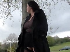 Chubby wifes public masturbation and busty amateur flashers horny outdoor