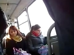 Flashing a big fuckpole for a curious nymph in the bus