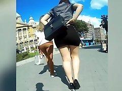 perfect bootie in sluty miniskirt