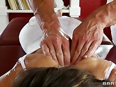 Supple yoga MILF Jenni Lee is fucked by her massage doctor