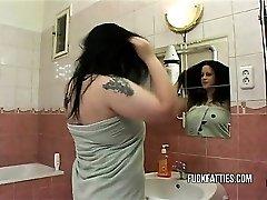 Hot Fat Girl Fucks In Rest Room