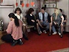 Horny couples have molten intercourse at a party