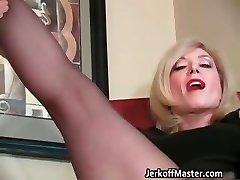Slutty blond mum with immense hooters part4