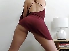 Girl unwrapping and dancing