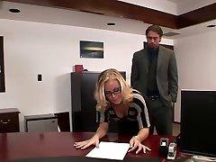 Nicole tears up in office