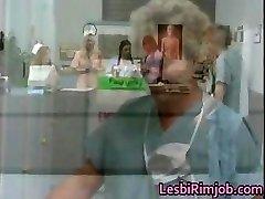 Horny lezzy nurses rump rimming free part4