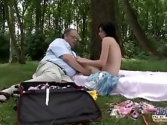 Senior YOUNG Romantic Sex Between Fat Old Man and Marvelous Teenage Girl