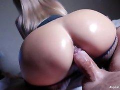Cougar Hot Riding on Rock Hard Cock, 4K (Ultra HD) - Alena LamLam
