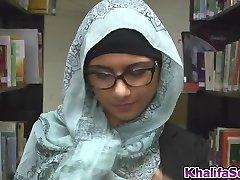 Schoolgirl got pulverized rigid and deep on the librarys floor