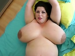 fattest breasts ever on a 9 month preggie milf