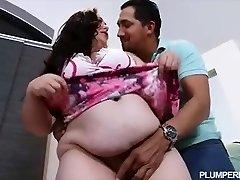 Pregnant BBW Vanessa London Plumbs Hubbys Best Pal