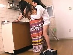 Chunky Oriental housewife gets fucked hard by her lover in