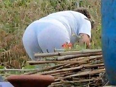 Spying Mom Butt - Chubby Plumper Granny - Mature Ass Ass