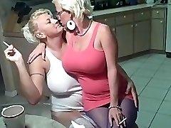 Smoking lesbians ginormous tits