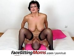 Huge natural tits lady Greta with a dude czech facesitting