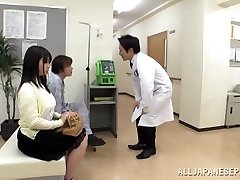 Gigantic boobed Japanese teen Aimi Irie in medical escapade