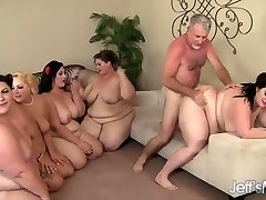 5 Nasty BBWs fucked by 3 cocks
