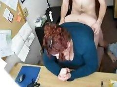 Fucking my Kinky Immense BBW Secretary on Hidden Cam