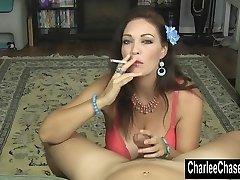 Smoking Hot MILF Charlee Chase Faps a Hard Man Rod!