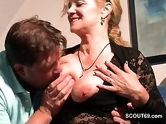 Monster Cock Step-Son Seduce Steamy German Mother to Fuck