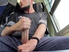 My Big Dick cousin strokes in behind my van