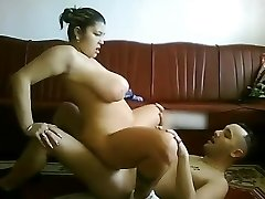 My Plump Latina Girlfriend with humungous tits riding my cock on cam