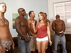 5 interracial dudes lineup so that housewife Janet Mason can prefer the best