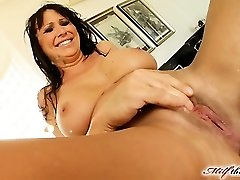 Mandy lose some weight and is looking very super-fucking-hot. She makes her way to MILFThing in a ebony obession dress. This video is historic from super-naughty fisting to double vaginal  squirting and more