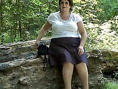 Upskirt donk in the woods part 2