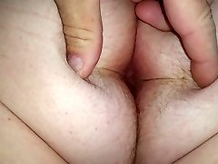 wifes big white hairy asshole & ass cheeks