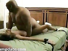 BIG fat dark-hued guy fuck skinny ebony girl.