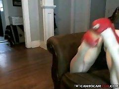 Beautiful teen babe web cam strip dancing