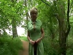 Brit MILF Takes A Walk In The Woods