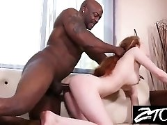 Teen Babysitter sucks Big Black Cock while the parents are away
