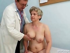 Mature fat pussy Ruzena gyno ass-plug bizzare hospital exam